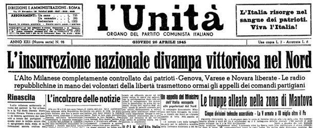 L'Unità di Genova del 26 aprile 1945